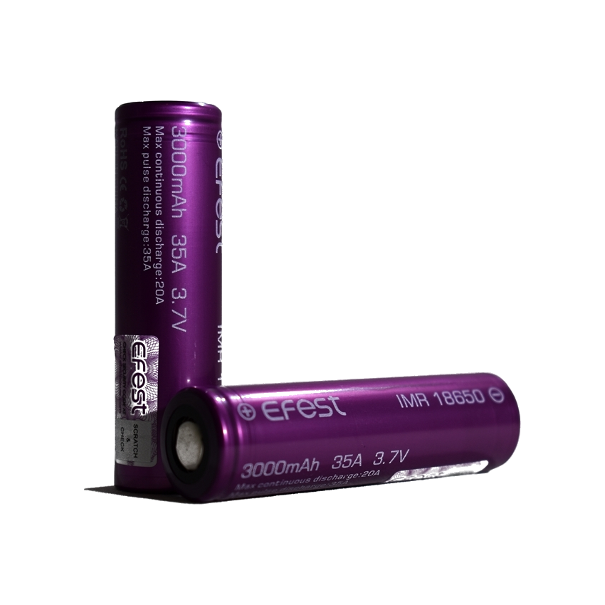 Efest IMR 18650 battery 3000mAh 35A - 18650 ie Irish battery supplier